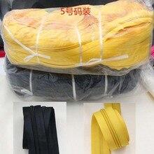 3 м длиной 5# черный белый серый красный желтый зеленый бежевый нейлоновые катушки молнии для самостоятельного пошива одежды аксессуары 11 цветов