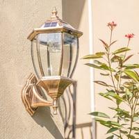 Солнечный настенный светильник Открытый стены легкий наружный светильник входная дверь Post Вилла водонепроницаемый садовый светильник дом
