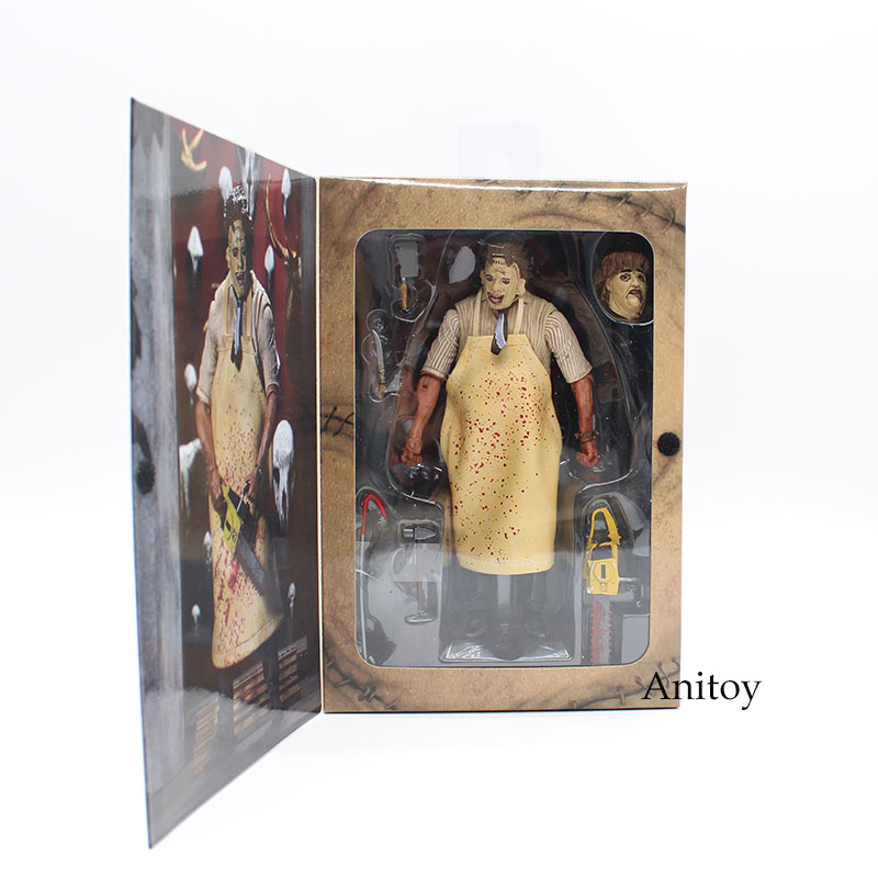 40th Anniversary Ultimate Leatherface Classic Terror Movie The Texas Chainsaw Massacre Action Figure 18cm
