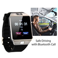 Smart watch dz09 con cámara tarjeta sim tf smartwatch reloj bluetooth para ios android teléfonos soporte multi idiomas gsm call