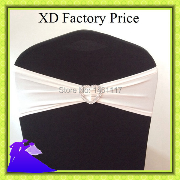 factory directly chair cover sashes with plastic heart buckle for wedding decoration Free Shipping !!