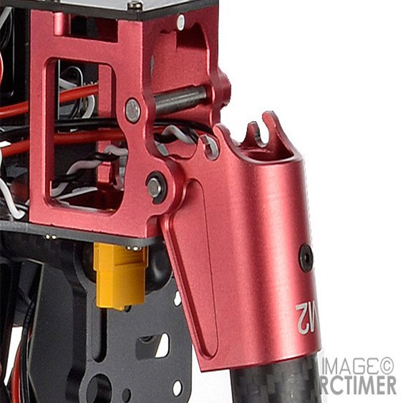 RCTIMER DIY 25mm Black Red CNC Aluminum Multi-Rotor Foldable Fixed Mount LJ030 cnc foldable