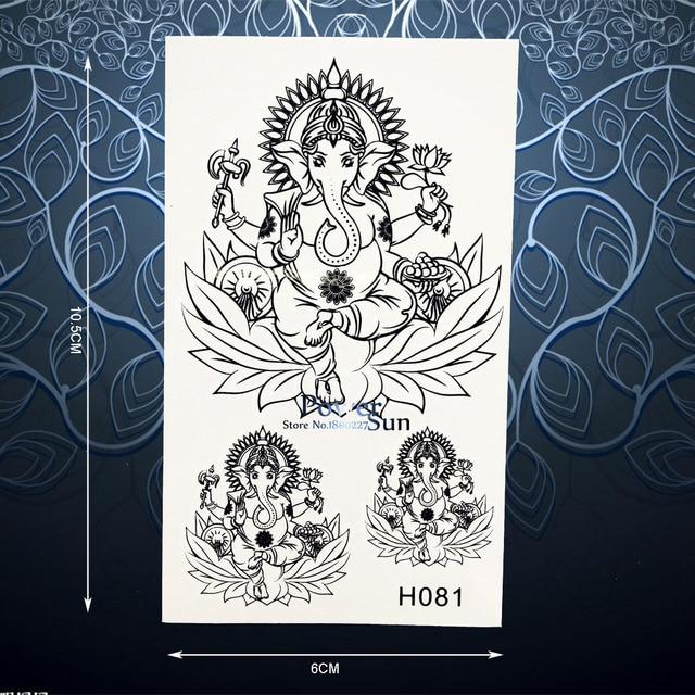Aliexpress Com Buy India Elephant God Tattoos Cool: Aliexpress.com : Buy Black Ink Temporary Tattoo Sticker