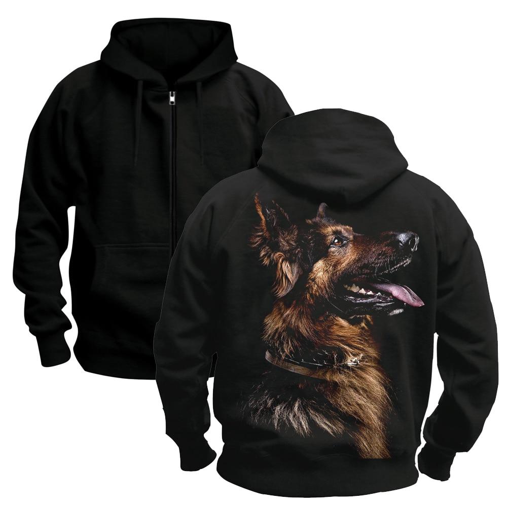 Bloodhoof NEW Pet Animal German Shepherd DOGS Men's Hoodies Printed Sweatshirt Winter Pullover New Hoodies Asian Size