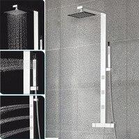 Ванная комната термостатический Панель Нержавеющаясталь колонна смесителя кран зеркало sus304 осадков массаж струи дождя душа