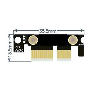 Image 4 - כפול 90 תואר זווית נכונה PCIe 3.0x1 כדי x1 הארכת כבל R11SL TL 8G/bps מהירות גבוהה PCI Express 1x Riser כרטיס רצועת הכלים Extender