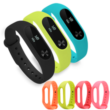 Xiaomi mi kompania 2 pasek pasek do zegarka w formie bransolety kolor wymiana pasek na nadgarstek mi band 2 kolorowy pasek silikonowe opaski na rękę akcesoria tanie tanio JianDiMeiBOS Dorosłych To tylko pasek