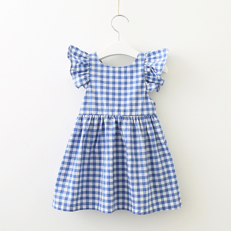 little girls dresses summer 2019 cotton baby girl plaid party princess dress kids clothes for children size 12 3 4 5 6 7 8 years day dress