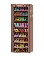 FREE Shipping 9 Layers Oxford Cloth Homestyle Shoe Cabinet Shoes Racks Storage Large Capacity Home Furniture