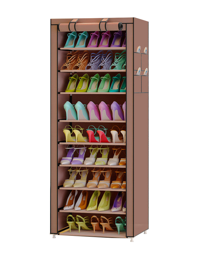 FREE shipping 9 Tier Furniture Oxford cloth Homestyle Shoe Cabinet Shoes Racks Storage Large Capacity Home Furniture Diy Simple