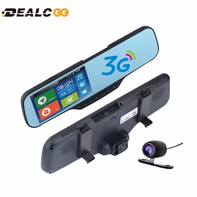 Dealcoo New 3G 5 inch Rearview mirror Car GPS Navigation Bluetooth Android  Navigators Automobile DVR Google maps Car GPS tracker-in Vehicle GPS from