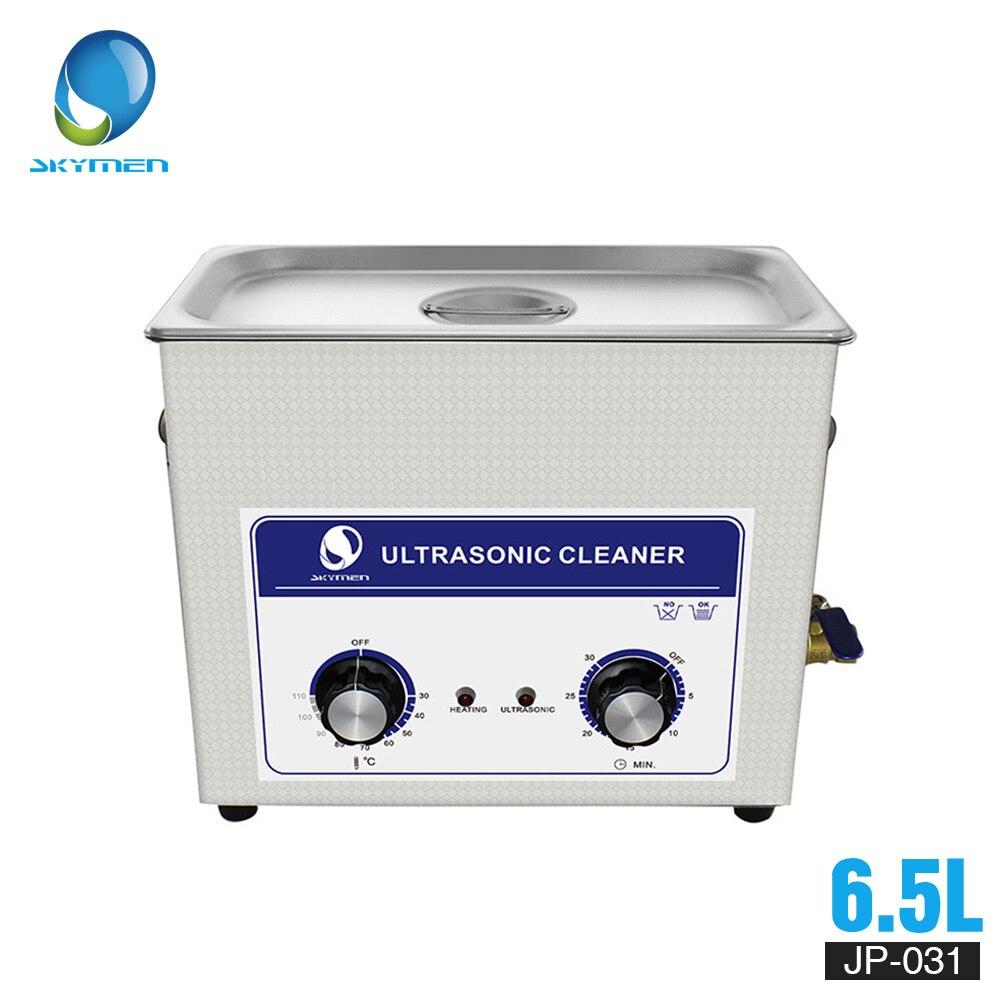 SKYMEN Ultrasone Reiniger Mechanische knop Bad 6L 6.5L 180 W 110/220 V Warmte Timer Reiniging Echografie Met Metalen mand-in Ultrasone reinigers van Huishoudelijk Apparatuur op  Groep 1