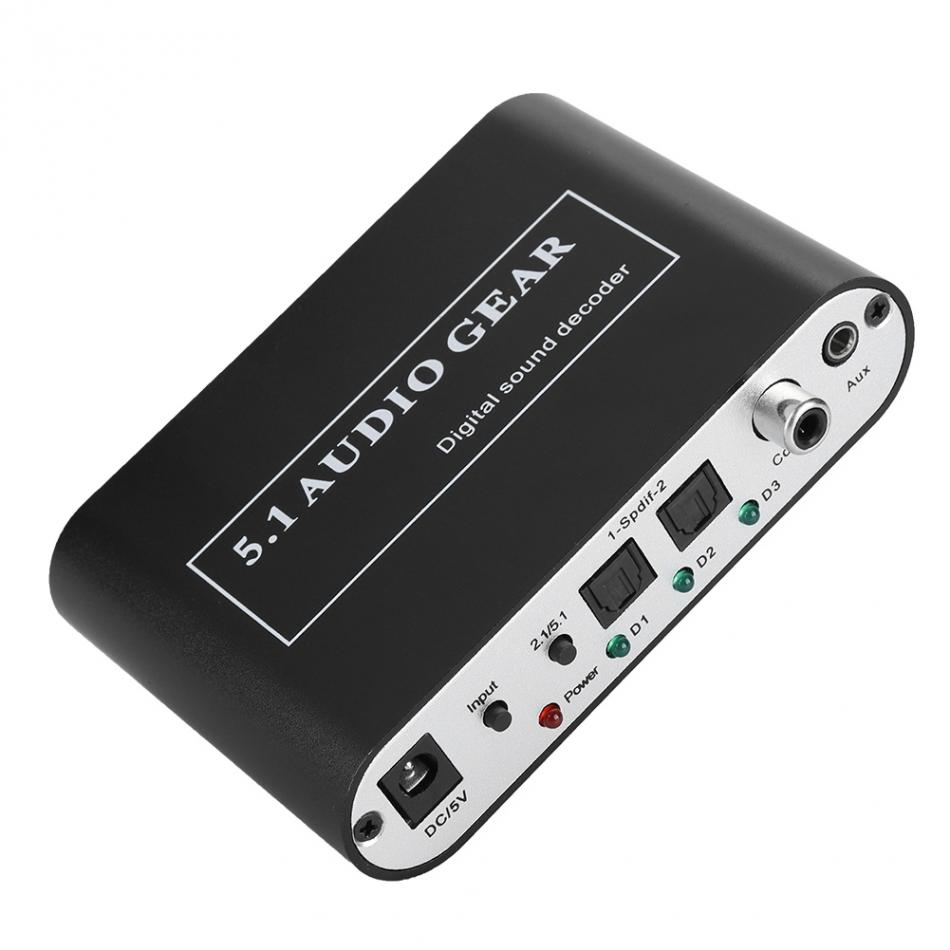 Шумоподавление DTS декодер оптический/коаксиальный сигнал/аналоговый к 5,1/2,1 аналоговый DTS аудио декодер для MP3 AC3 DTS декодер