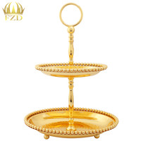 10Pieces Dessert Display Metal Fruit Serving Tray Cake Plate Compote Cakes Desserts Candy Plate For Wedding