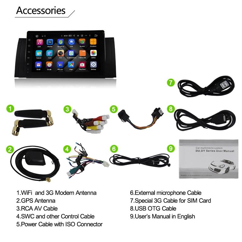 US $263 25 19% OFF|Eunavi Quad Core Android 8 1 PC 1 Din Car Radio GPS  Radio Stereo For BMW E53 E39 X5 Support TV 3G WiFi OBD DVR WIFI  Bluetooth-in