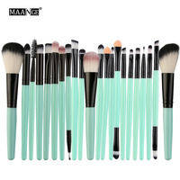 MAANGE 22Pcs Makeup Brushes Set Professional Eyebrow Eye Shadow Eyeliner Lip Blusher Foundation Powder Cosmetic Maquiagem