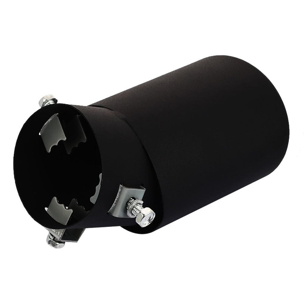 Vehemo Fit 1,5 до 2,5 дюймов нержавеющая матовая сталь Универсальная выхлопная труба автомобиля аксессуары внешний автомобильный хвост горло хром