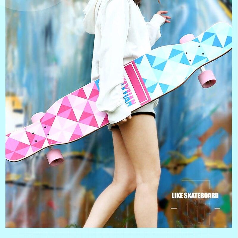 46 Pouce Érable Canadien de Planche À Roulettes Professionnelle Route Longboard Skate Board 4 Roue Descente Rue De Danse Conseil Driftboard - 3