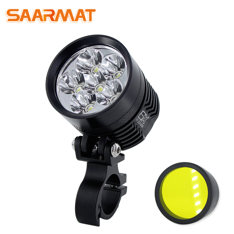double colors led motorcycle headlight drl phare scooter. Black Bedroom Furniture Sets. Home Design Ideas