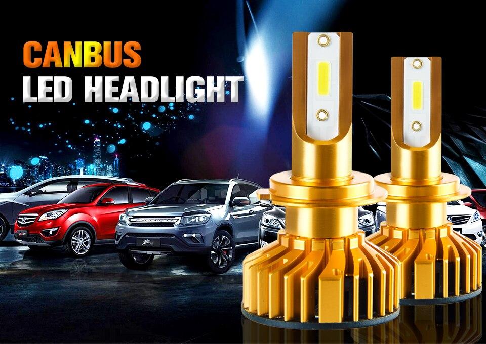 Foxcnsun 2PCS H7 LED H4 Car headlight H1 H3 H11 H7 9005 9006 72W 10000lm Auto Hi Lo Beam H8 H9 HB4 HB3 6500K CANBUS DOB Chip 12V (1)