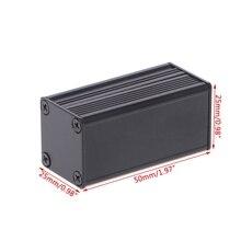 Новый DIY экструдированный электронного проекта Алюминий корпус черный 50x25x25 мм