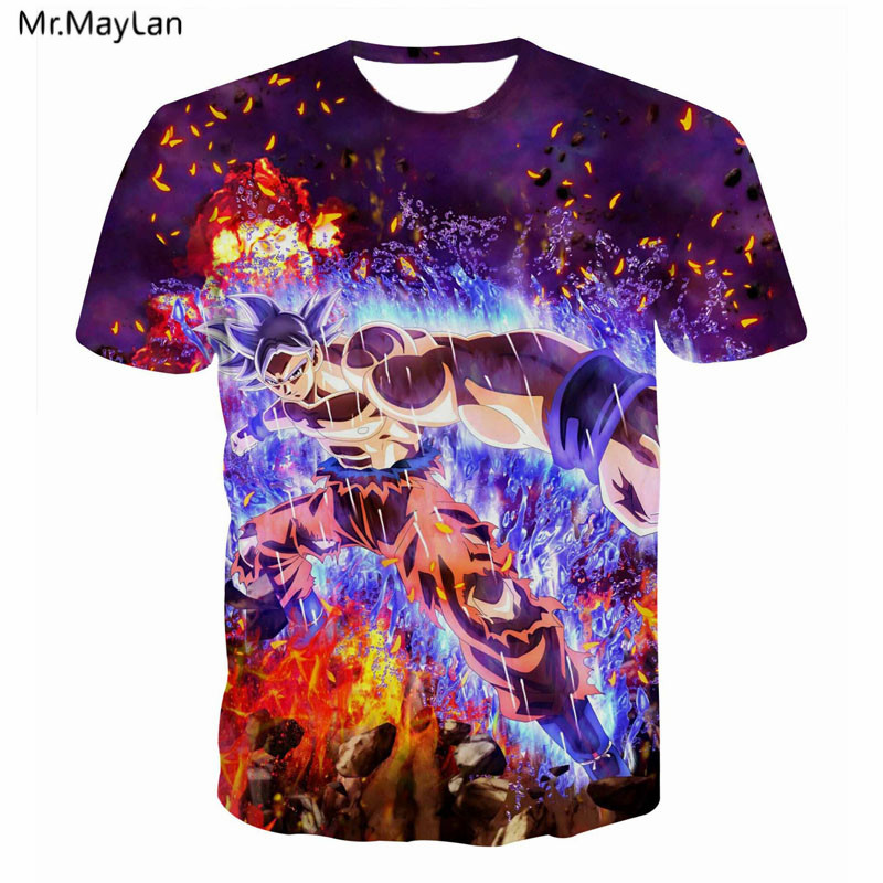 Cartoon 3D Hipster <font><b>T</b></font>-<font><b>Shirt</b></font> Print <font><b>Dragon</b></font> <font><b>Ball</b></font> DBZ Goku Men Women Streetwear Punk Casual <font><b>T</b></font> <font><b>Shirt</b></font> Tees Tshirt Boy Tops Clothes <font><b>5XL</b></font> image