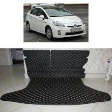 Ajuste personalizado de couro tapete mala do carro tapete de carga para toyota prius zw30 2009 2010 2011 2012 2013 2014 2015 5d forro de carga