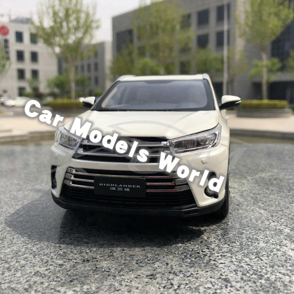 Diecast Car Model for All New Highlander 2018 1 18 White SMALL GIFT