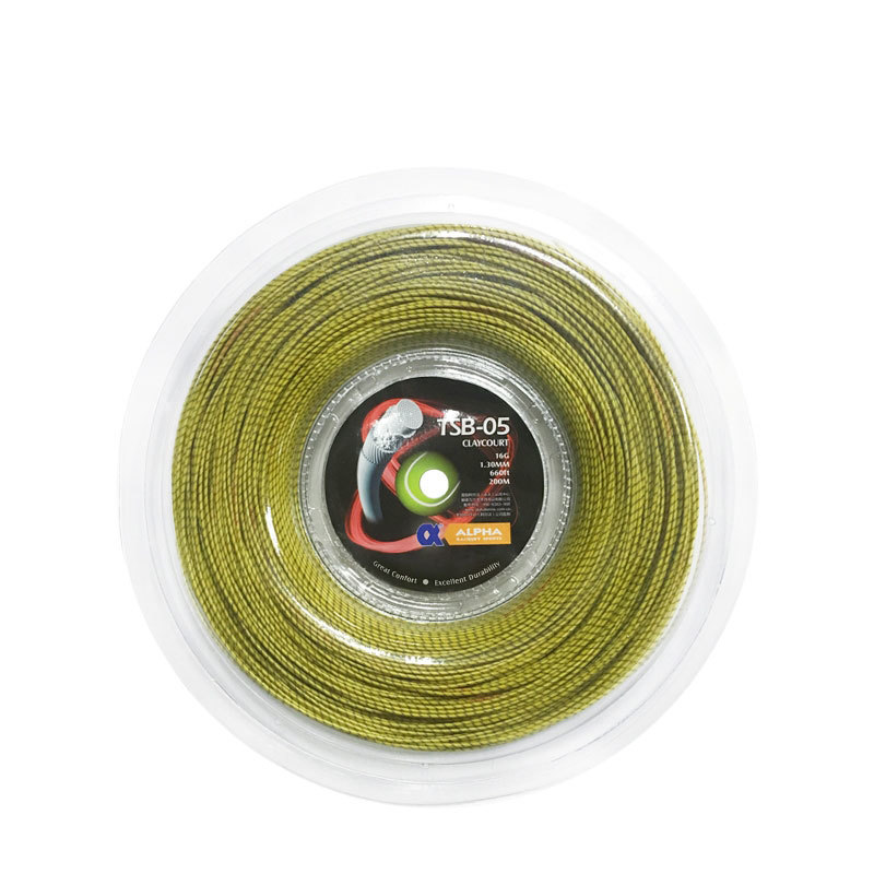 1 Reel ALPHA TSB-05 Claycourt Tennis String 1.30mm Multifilament Nylon Tennis Racket String 200m Good Control String