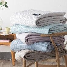1 шт Одеяло Однотонная одежда Макарон мыть хлопок плед взрослый супер мягкие одеяла на диван, кровать простыня покрывало