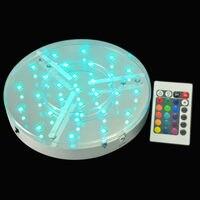 Barato 30 pzas lote boda centros de mesa de 8 pulgadas recargable LED bajo luz de mesa