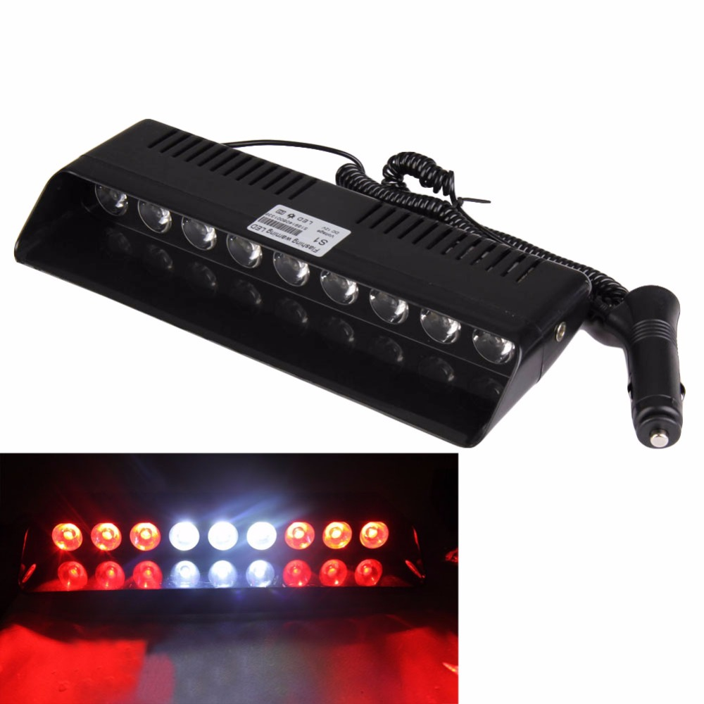 Emergency Strobe Light Auto Car Truck Windshield 14 Mode 9W 9 LED Warning Flash Lamp with 4 Suction Cups Cigarette Adaptor Plug led car truck amber 8 led dash strobe warning light source 3 mode flash emergency light dc 12v auto lamp bulb interior lighting