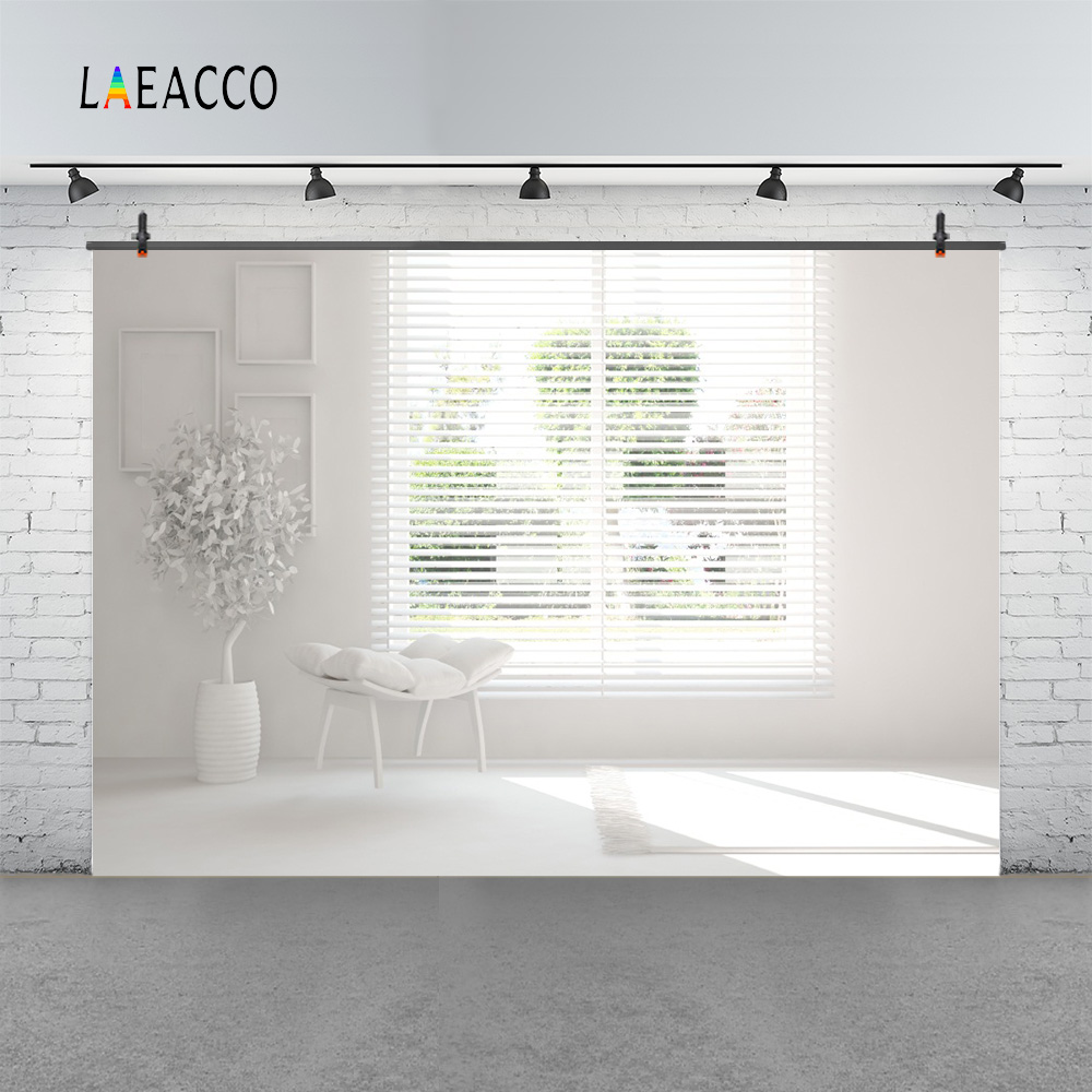 Laeacco Boudoir White Shutters Window Artwork Chair Photography Backgrounds Customized Photographic Backdrops For Photo Studio Background Camera & Photo