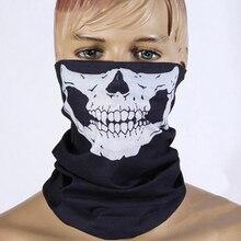 Мотоциклетный головной платок шейный Череп Призрак лицо Ветрозащитная маска Спорт на открытом воздухе теплые лыжные шапки велосипед повязка шарф