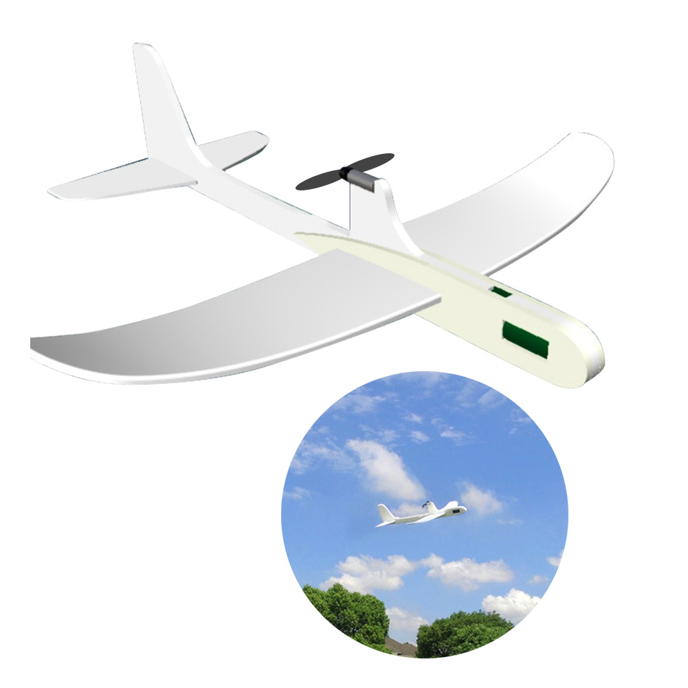 PP Foam Hand Throw Airplane Outdoor Launch Glider Plane Kids Gift Toy Capacitor Airplane Model Glider Launch Plane