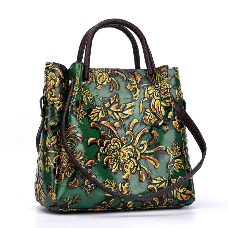 Bagaj ve Çantalar'ten Üstten Saplı Çanta'de Kadın Omuz Kabartmalı Messenger Çapraz Vücut Çanta Tote Çanta Ulusal Stil En saplı çanta Kadın hakiki deri çanta'da  Grup 1