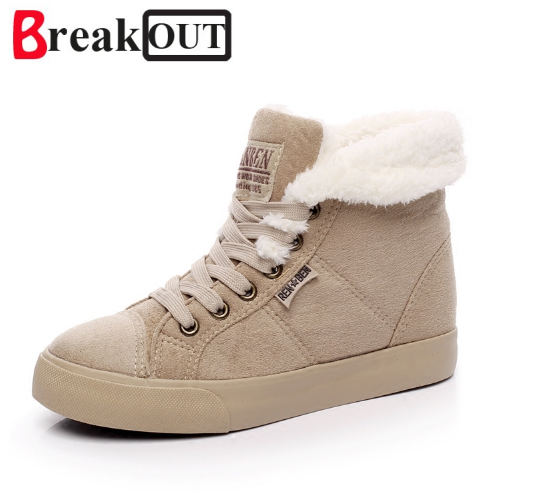 Break Out New fashion fur female warm ankle boots women boots snow boots and autumn winter women shoes #Y2508Q new 2017 hats for women mix color cotton unisex men winter women fashion hip hop knitted warm hat female beanies cap6a03