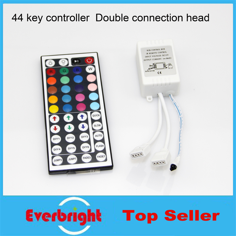 10 pcs/lot 12V 44 Keys IR Remote Controller + Infrared Controller Box For Smd 3528 5050 Rgb Led SMD Strip Lights