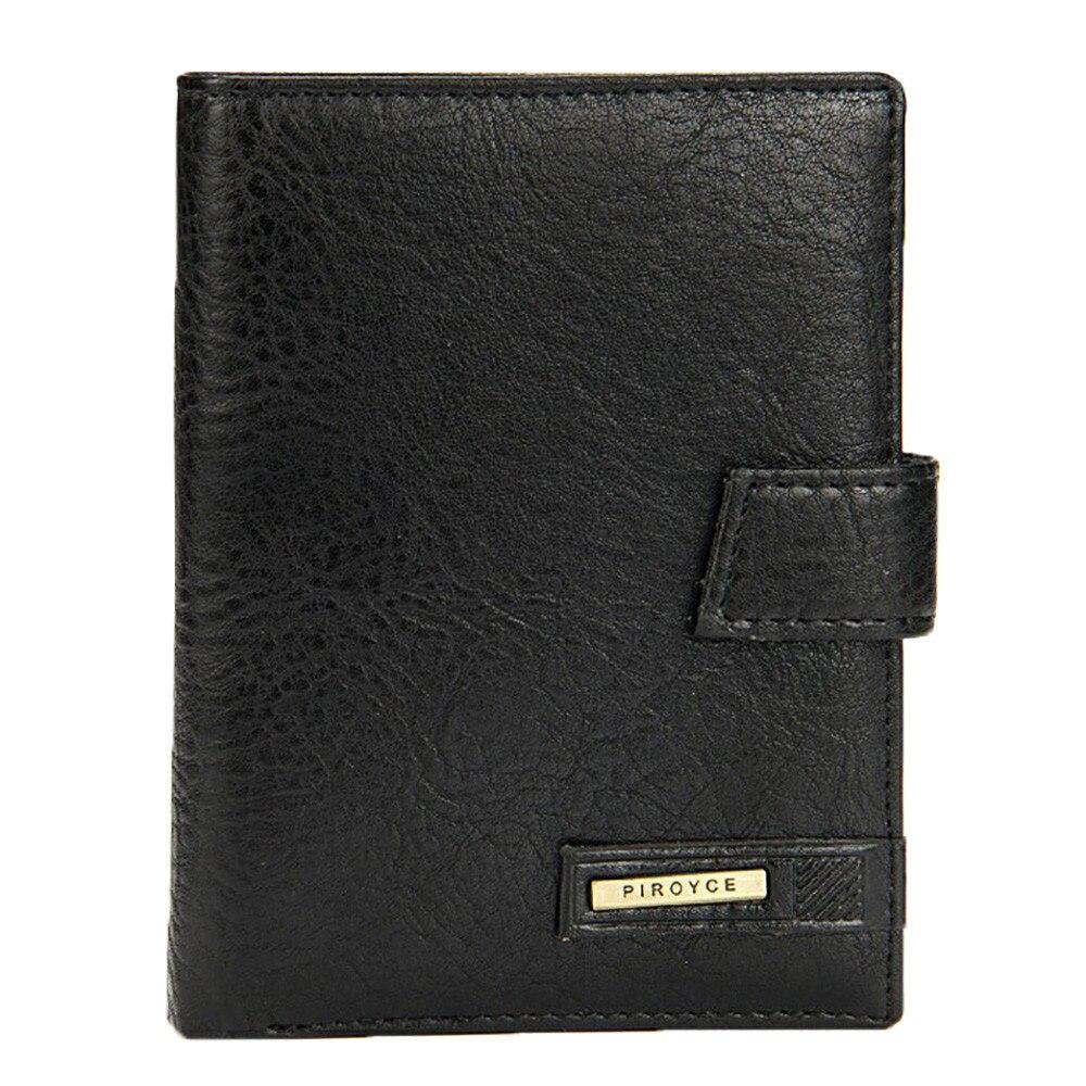 цена Men Wallet Solid Color Leather Qualited Billfold Purse Card Holder Vintage Short Wallet Handbag Billetera Hombre @9118 онлайн в 2017 году