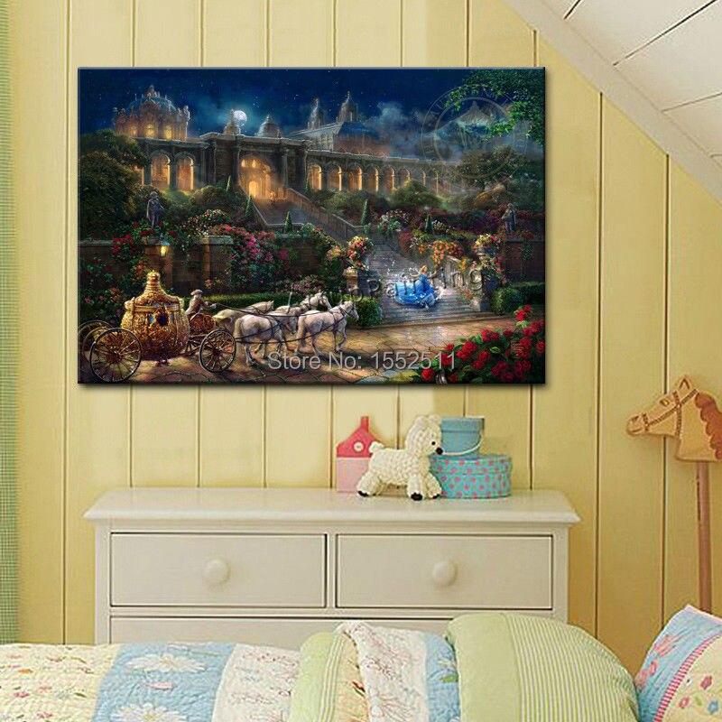 Thomas Kinkade Oil Paintings Tangled Art Decor Painting Giclee ...