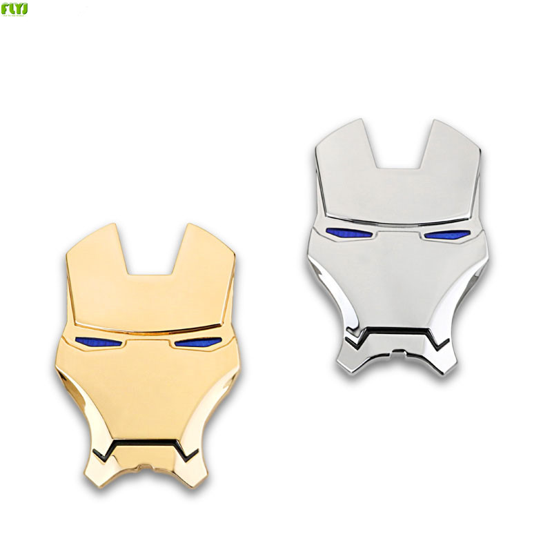 FLYJ  2018 Car personality 3 d metal iron man logo avengers alliance car post tail the modified body decoration Car Styling