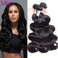 7A Malasia Virgin Hair Body Wave 4 Bundles Armadura Del Pelo Humano Bundles Ali moda Pelo Malasio de la Onda Del Cuerpo Pelo de la Virgen Bundles Trato