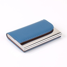 Wholesale Women And Card Holder Business ID Credit Brand Metal Aluminum Id Holders PU Leather Porte Carte