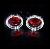 Car Styling Bixenon Projector Lens 2 5inch Mini Retrofit Diy With Led Angel Eyes DRL Demon