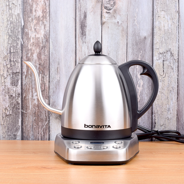 Bonavita Electrothermal pot Electric coffee drip Kettles stainlesssteel Temperature control pot 220V 1000W 50HZ
