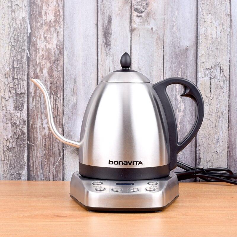 Bonavita Electrothermal Pot Electric Coffee Drip Kettles Stainlesssteel Temperature Control Pot 220V 1000W 50HZ
