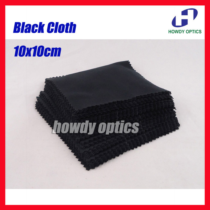 175gsm Neddle 2 Black White Grey Color 10x10cm Sunglass Lens Phone MP4 MP5 Small Size Microfiber cleaning cloth free shipping
