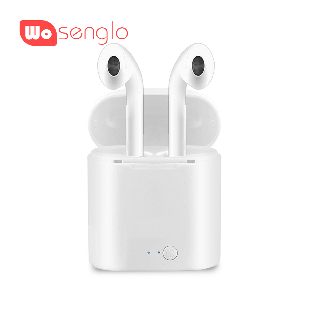 i7 tws Bluetooth Earphones Wireless Headphones Stereo Music Pods in ear Air Earbud with Charging box For iPhone SE 6s 7 X Xiaomi anbes bluetooth earphones in ear headphones earbud 4 0 wireless sport stereo headset with microphone for iphone samsung xiaomi