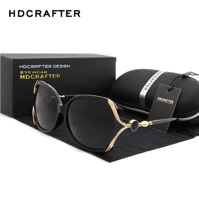 1c47b310d71 HDCRAFTER Luxury Brand Polarized Sunglasses Women Designer Cat Eye Sun  Glasses for Women oculos de sol with Original Box-in Sunglasses from  Apparel ...