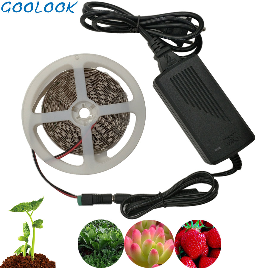 LED Strip Light Tape Set DC 12V Grow Light Full Spectrum Flower Plant Phyto Growth Lamps For Greenhouse Hydroponic Plant Growing